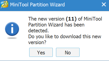 New MiniTool Free Partition Wizard Version 11 Available