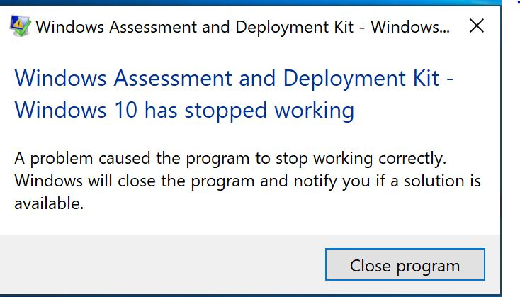 W10 1809 -ADK not working Solved - Windows 10 Forums