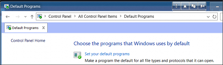 Unable to change default app by protocol or filetype  - Windows 10