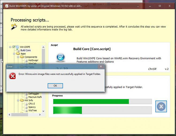 Click image for larger version.  Name:Build Win10XPE error.jpg Views:2 Size:91.1 KB ID:227196