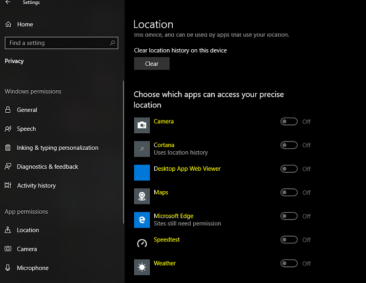 Why are these privacy settings greyed out? Solved - Windows