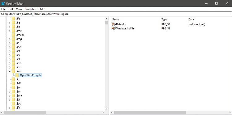 windows 10 choose default apps by file type registry