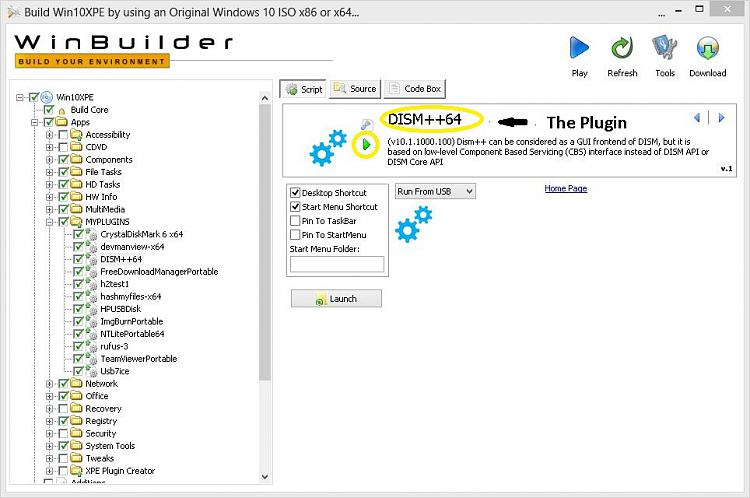 Click image for larger version.  Name:WinBuilder Runing Plugin Individually.JPG Views:0 Size:138.6 KB ID:247428