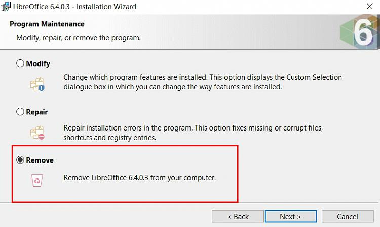 Trying to add JRE 64 Bit for Libre office without success-libreoffice-6.4.0.3-remove.jpg