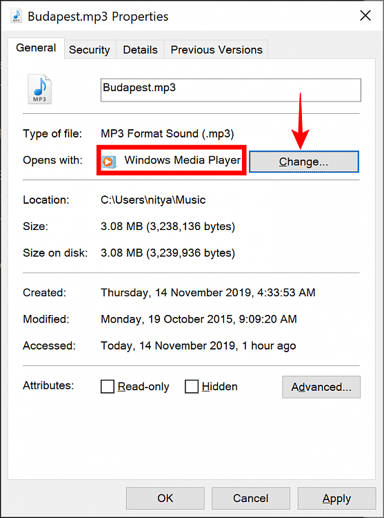 Can't associate mp3 files with 64bit WMP?-properties.png