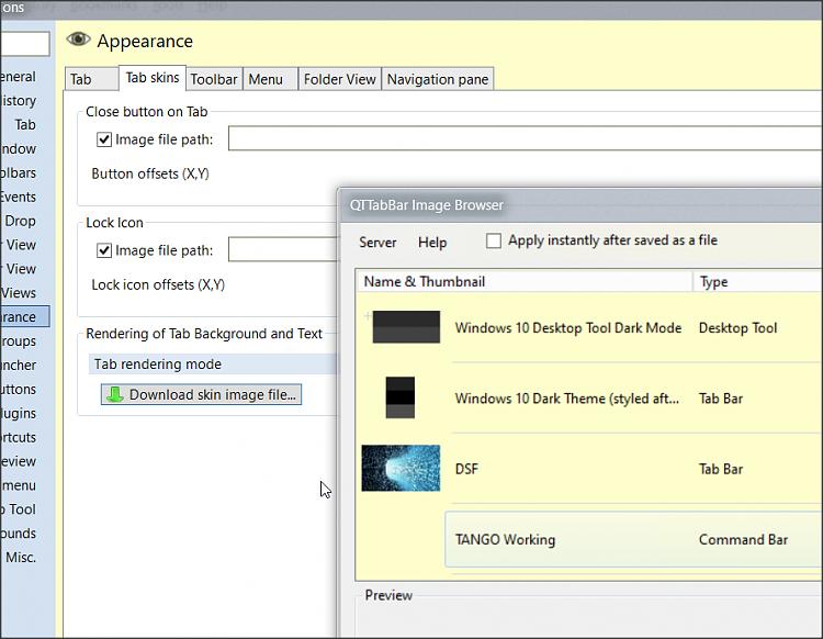 Qttabbar-white tabs in explorer dark mode-Command names black on black-1.png