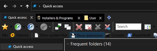 Qttabbar-white tabs in explorer dark mode-Command names black on black-qttabbar2.png