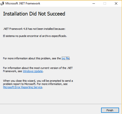 Error trying to install Framework 4.8-framework_error.png