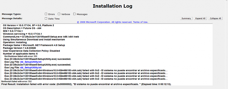 Error trying to install Framework 4.8-instalationlog.png