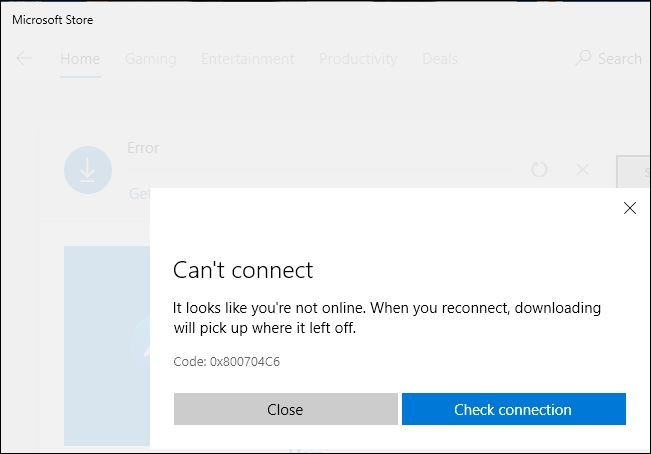 Microsoft store keeps failing to download Facebook Messenger-cant-connect.jpg