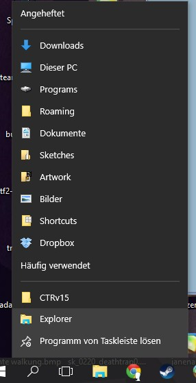 Can't open folders, which are pinned down to the taskbar (Explorer)-fast-access.jpg