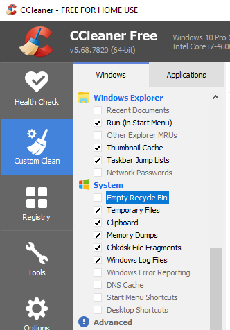 Stop CCleaner from touching the Recycle Bin-image.png