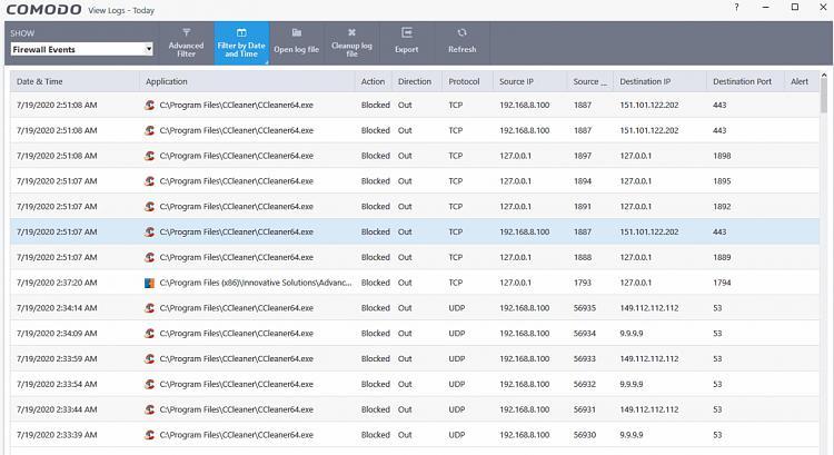 Latest CCleaner Version Released-firewall-logs.jpg