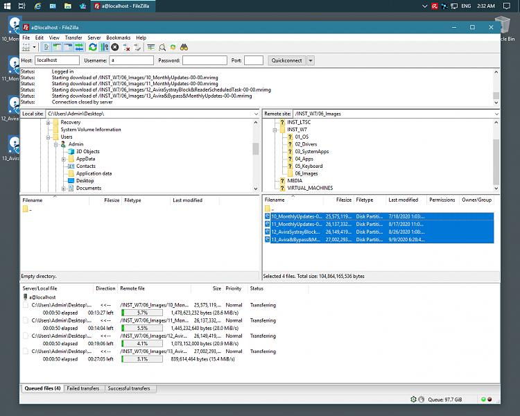 Filezilla  concurrent copying on same Host - Forget File Explorer-1.png