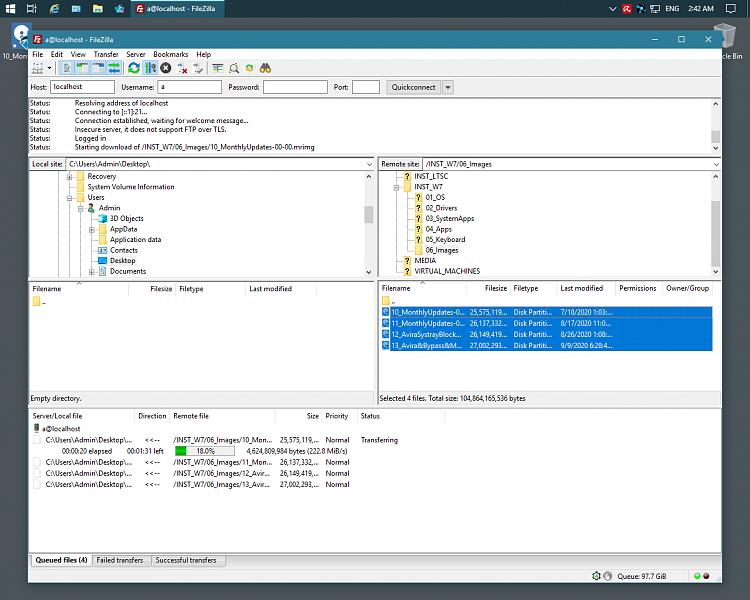 Filezilla  concurrent copying on same Host - Forget File Explorer-2.png