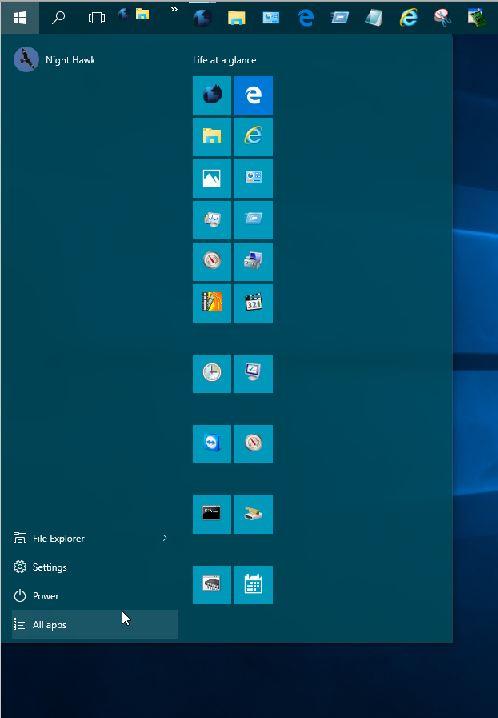 Click image for larger version.  Name:W10 START MENU EXPANDED AFTER TILE SHRINK.jpg Views:2 Size:35.8 KB ID:33674