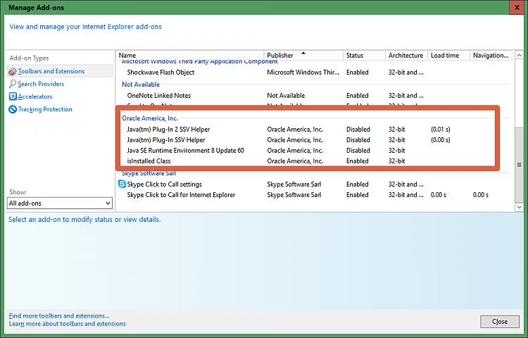 java Plug In Solved - Windows 10 Forums