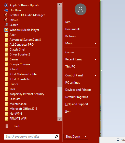 Click image for larger version.  Name:start menu populated.png Views:18 Size:29.5 KB ID:35870