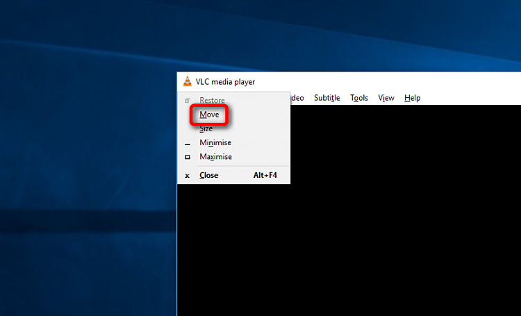 how to move window that is not centered