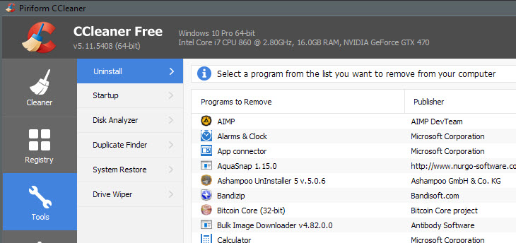 Click image for larger version.  Name:ccleaner-uninstall-apps.jpg Views:4 Size:89.0 KB ID:45138