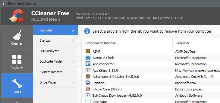 Latest CCleaner Version Released-ccleaner-uninstall-apps.jpg