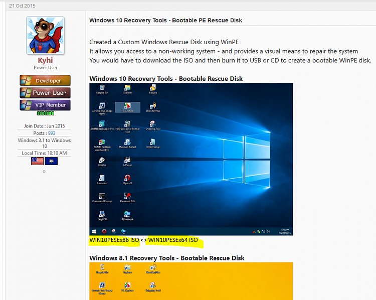 how to make win 10 recovery disk