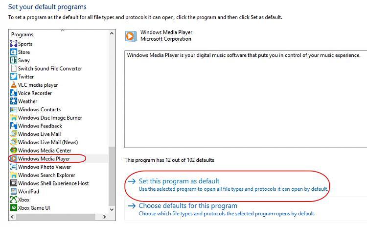 How do I make WMP default application for music CDs?-windows-media-player-default.jpg