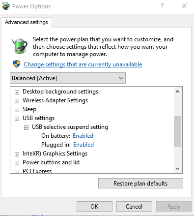 Click image for larger version.  Name:Power options ... advanced settings.jpg Views:41 Size:113.0 KB ID:65846
