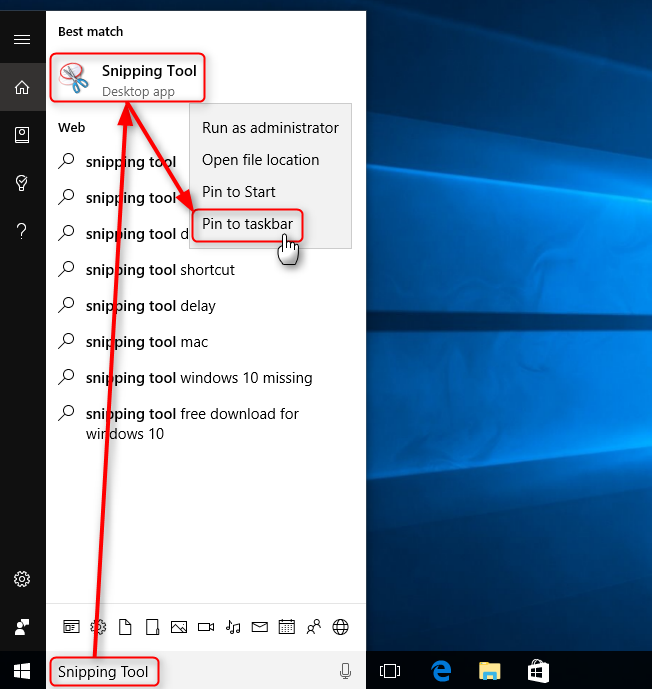 snipping tool and taskbar Solved - Windows 10 Forums