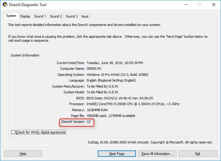 directx 10 for windows 10 64 bit