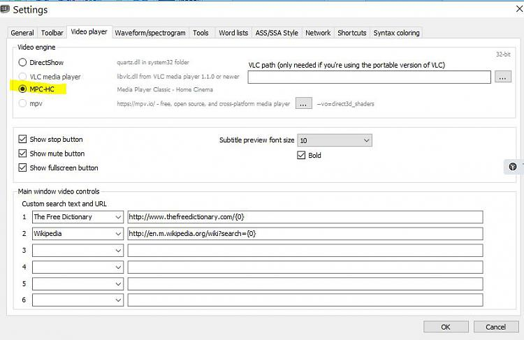 Editing Subtitle - Windows 10 Forums