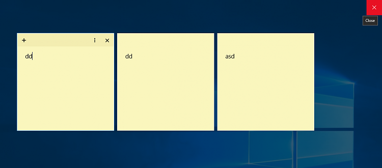 how to close sticky notes windows 10