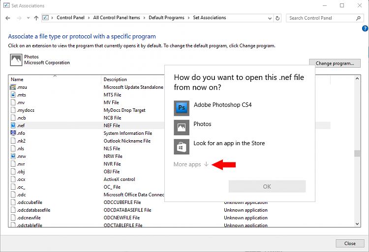 Set file association for .NEF files-control-panel.png