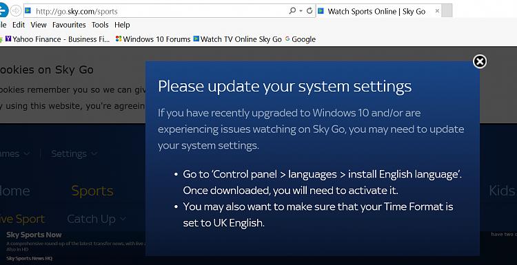 Sky Go App Windows 10 64 Bit