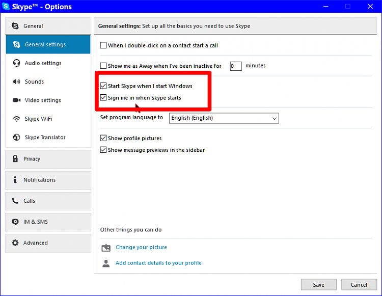 how to change skype password on windows 10