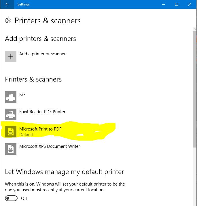 pdf creator printer not working