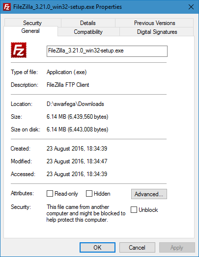 Can not run executable files from external drive in Windows 10-unblock.png