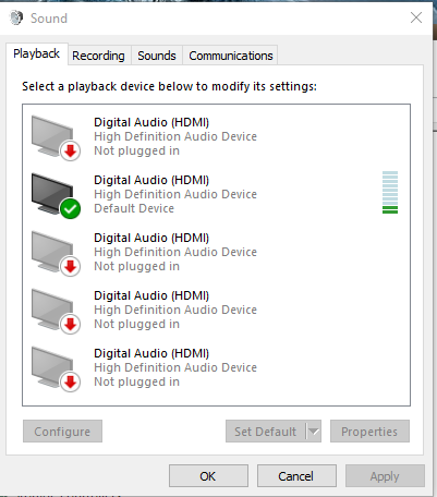 how to go to recording devices in windows 10