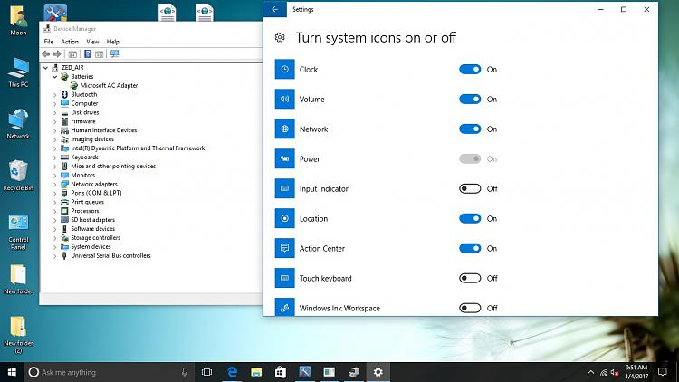 No audio output device installed and battery icon - Windows