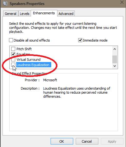 windows 10 audio volume very low