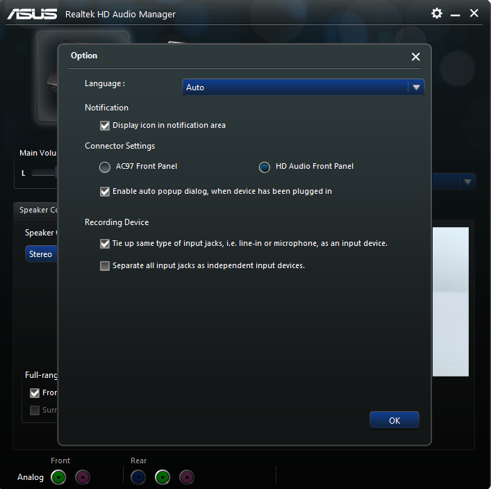 ASUS U45JC REALTEK AUDIO WINDOWS 10 DRIVERS