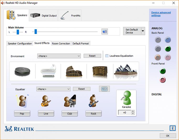 Realtek Equalizer Windows 10