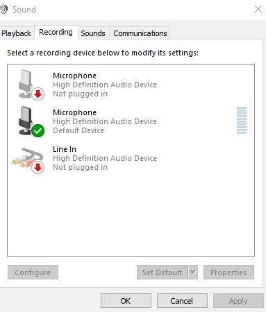 how to set default settings in realtek