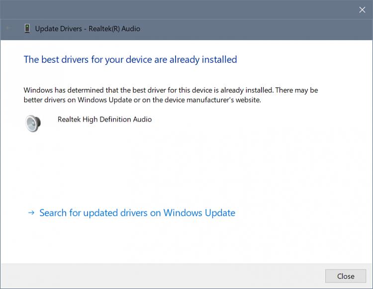 Latest Realtek HD Audio Driver Version - Page 87 - Windows