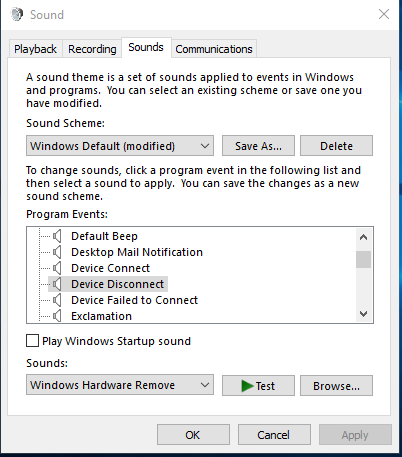 Disconnected Device Sound Keeps Happening Every Few Seconds Windows 10 Forums