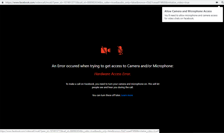 Facebook messenger won't access camera or microphone - Page 2 - Windows 10  Forums