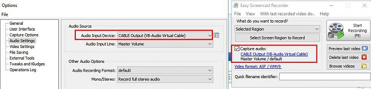 Unable to record audio (streaming or otherwise) in Win 10