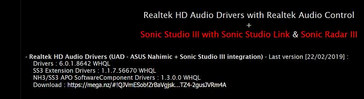 Sonic Studio 3 Not Working
