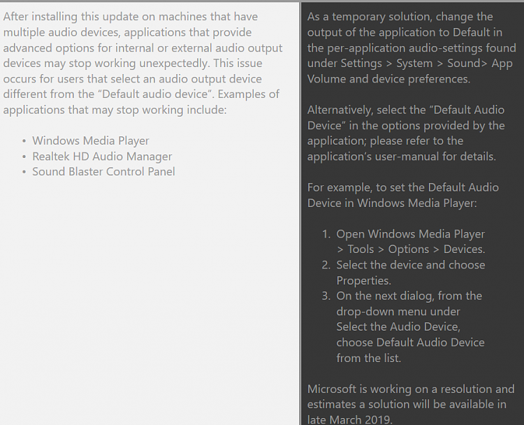 No Sound Windows 10 after installing the updates (Sound