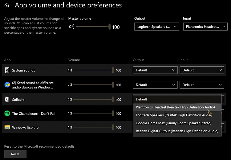 Send sound to different audio devices in Window 10 - Windows